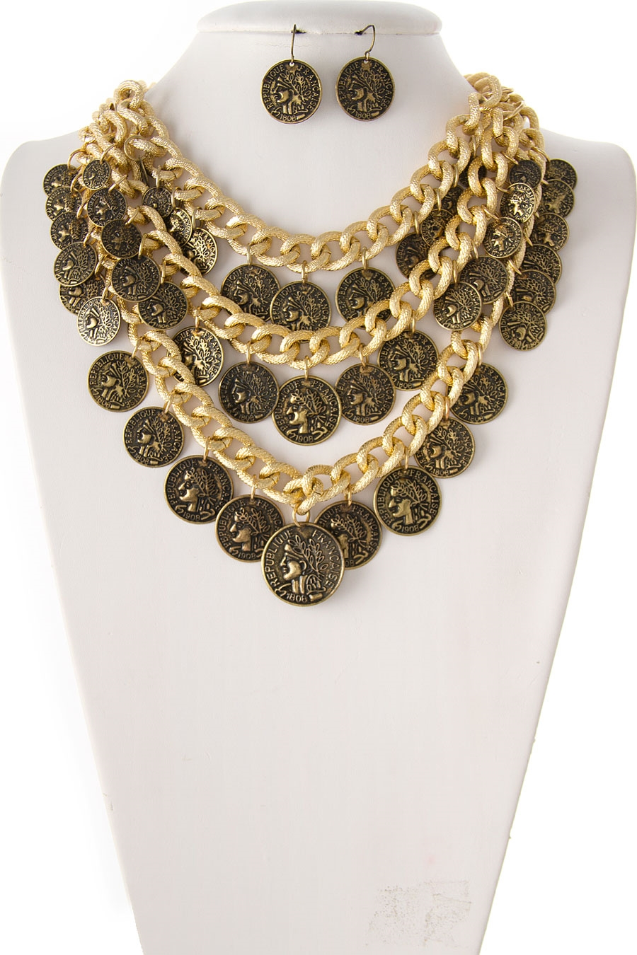 LAYERED COIN NECKLACE SET - orangeshine.com