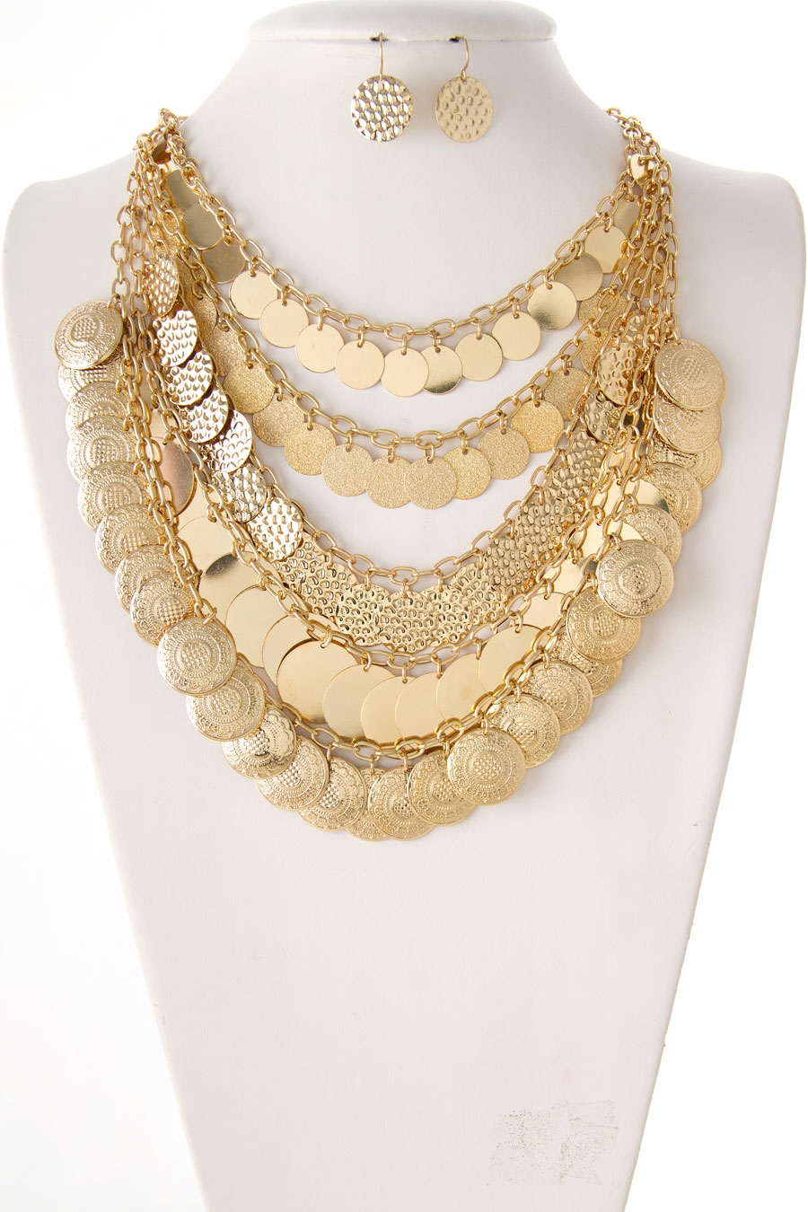 LAYERED DISC NECKLACE SET - orangeshine.com