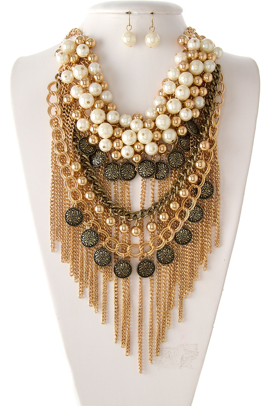 PEARL CLUSTER NECKLACE SET - orangeshine.com
