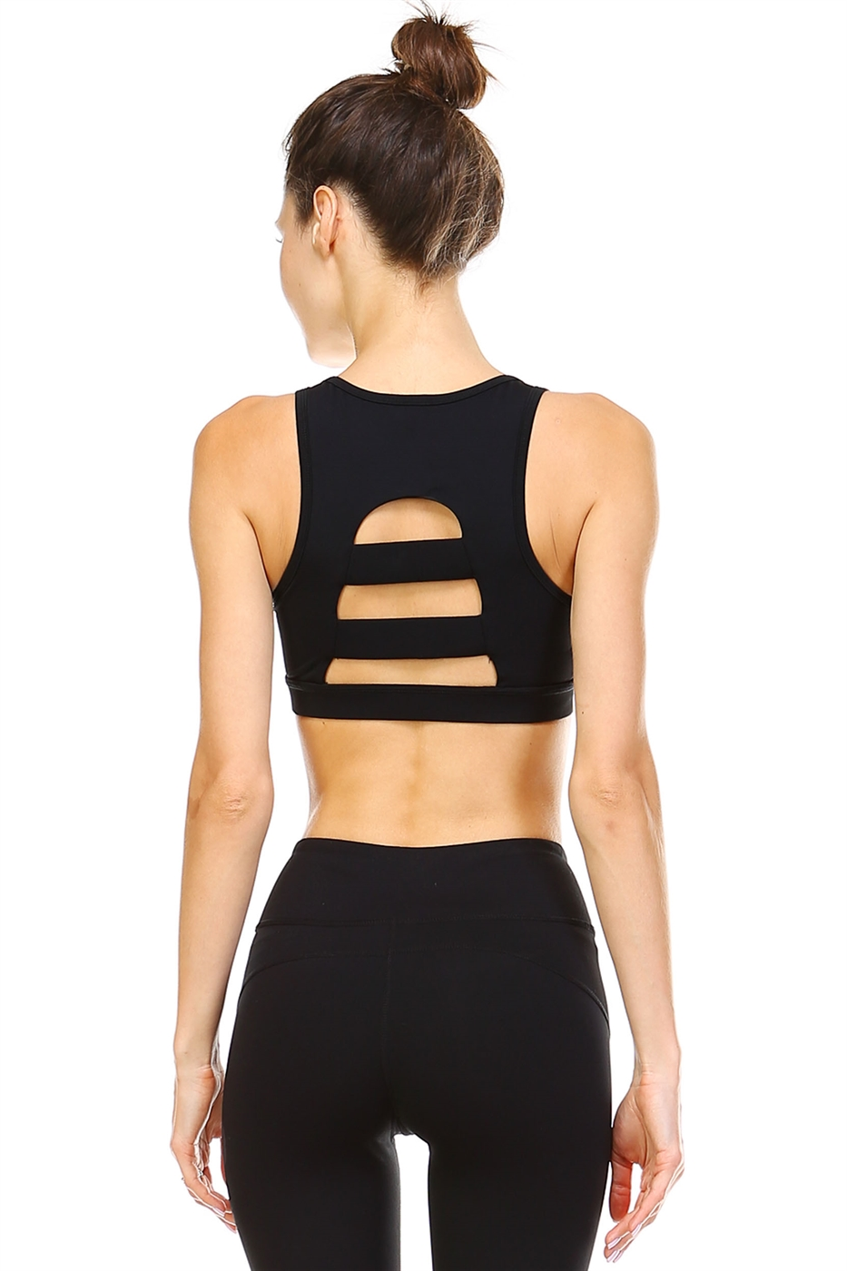CUTOUT BACK SPORTS BRA - orangeshine.com