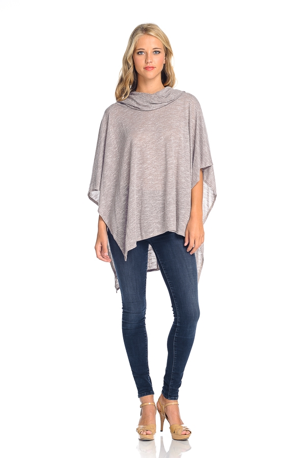 Heather Cowl Neck Kimono Knit - orangeshine.com