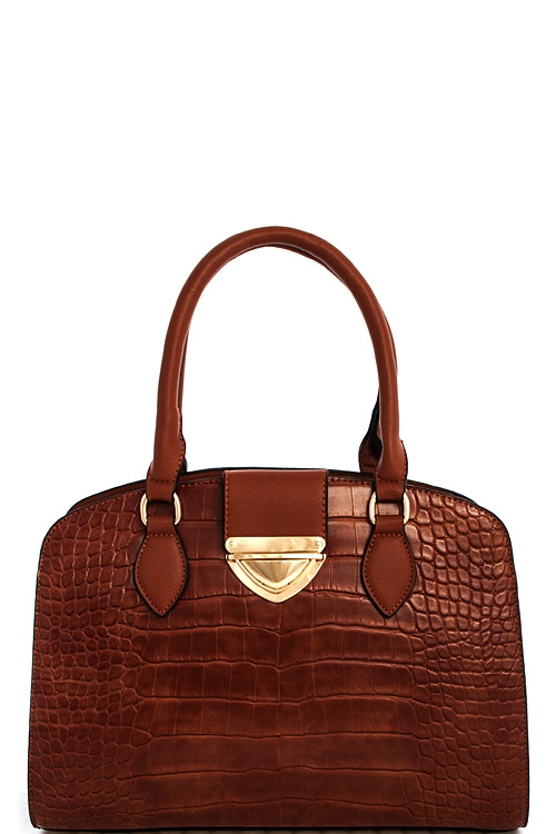Chic Trendy Croco Satchel - orangeshine.com