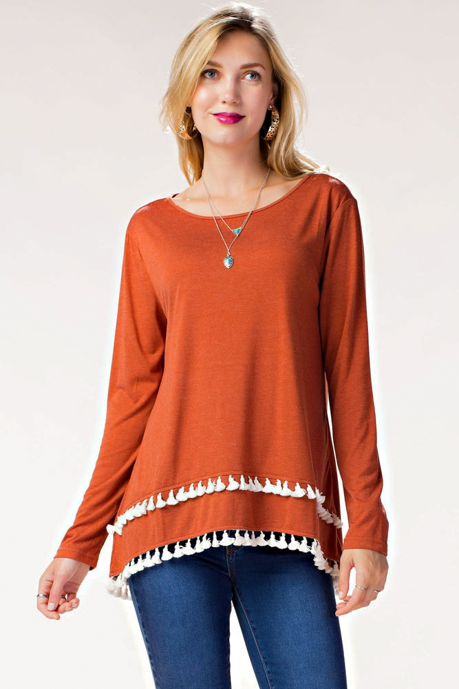 AMERICANA DOUBLE FRINGE TOP - orangeshine.com