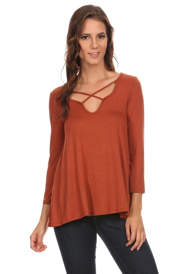 Crew neck Top - orangeshine.com