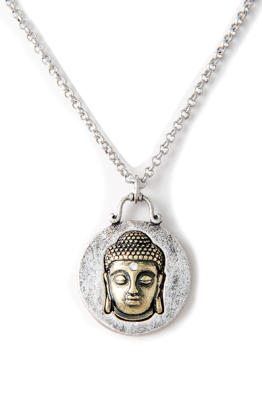 BUDDHA HEAD PENDANT NECKLACE - orangeshine.com