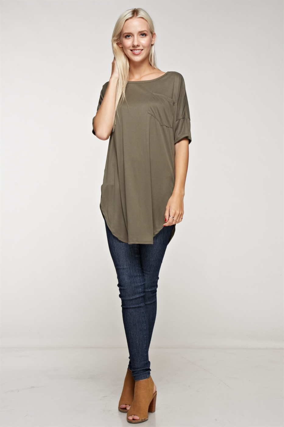 Sand washed tunic top - orangeshine.com
