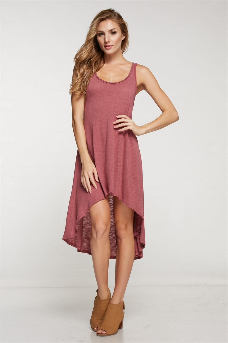 Hi-Lo A-line tank dress - orangeshine.com