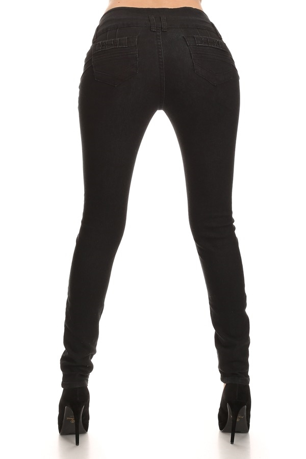 high waist black skinny  jeans - orangeshine.com