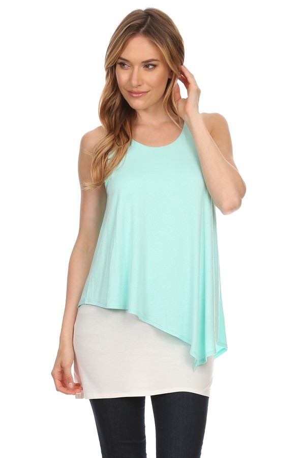 Sleeveless layered top - orangeshine.com