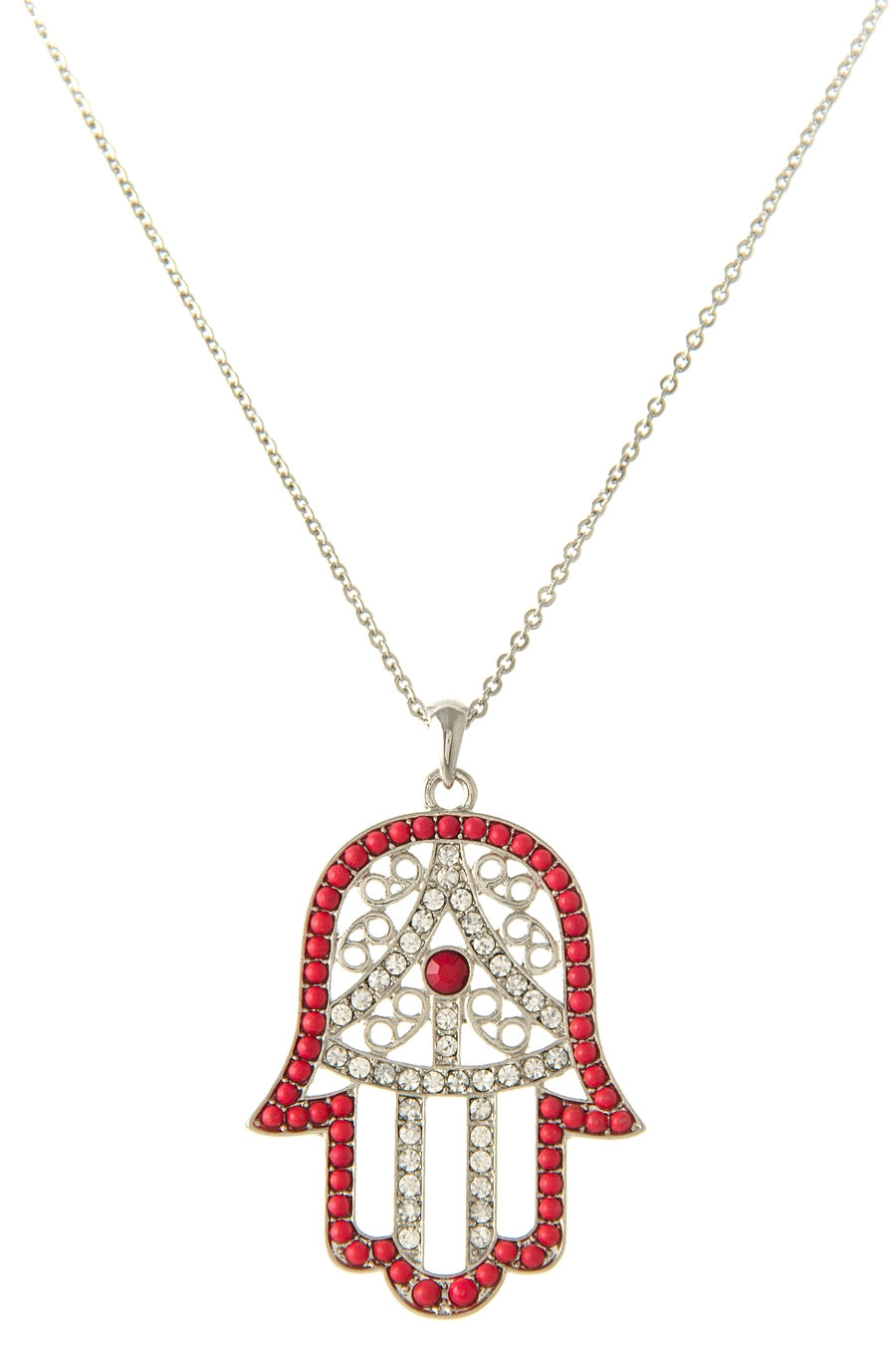HAMSA RHINESTONE NECKLACE - orangeshine.com