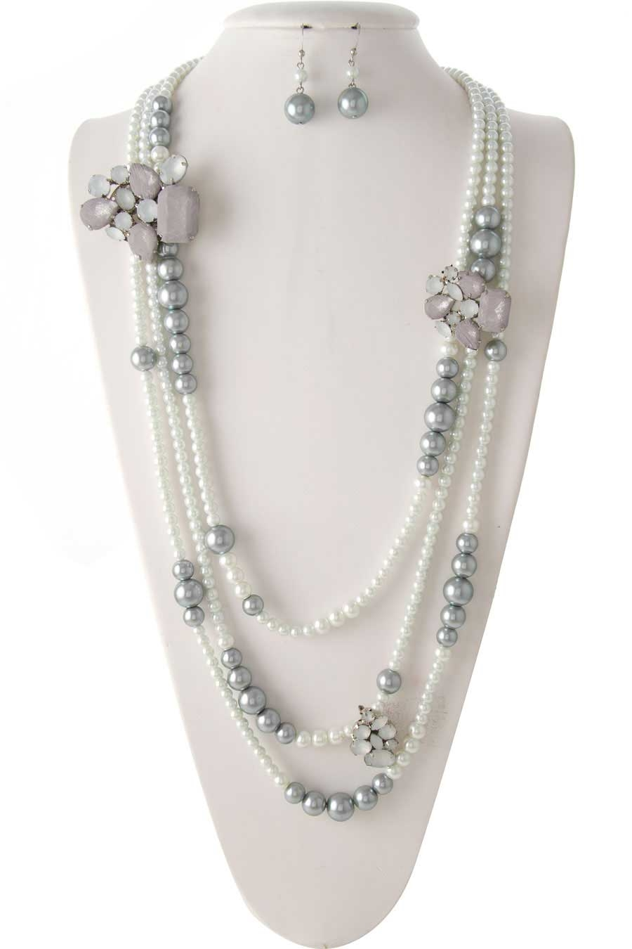 EMBELLISHED PEARL NECKLACE - orangeshine.com