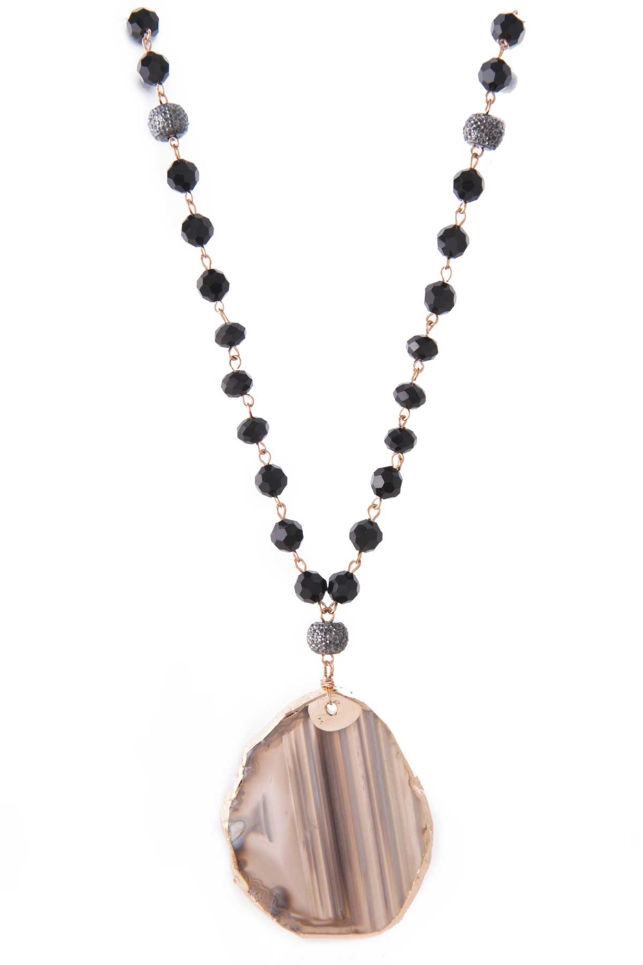 AGATE PENDANT NECKLACE - orangeshine.com