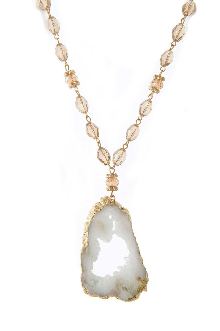 DRUZY AGATE BEAD NECKLACE - orangeshine.com
