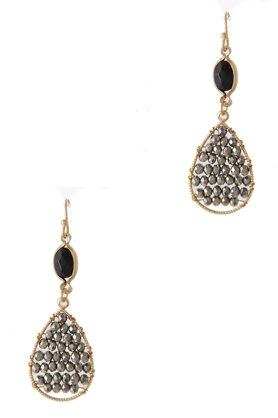 TEARDROP GLASS BEAD EARRING - orangeshine.com