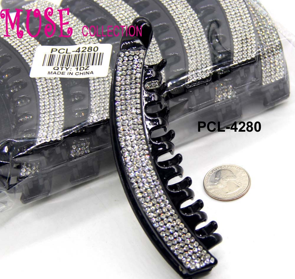 Hair Clip With Rhinestones - orangeshine.com