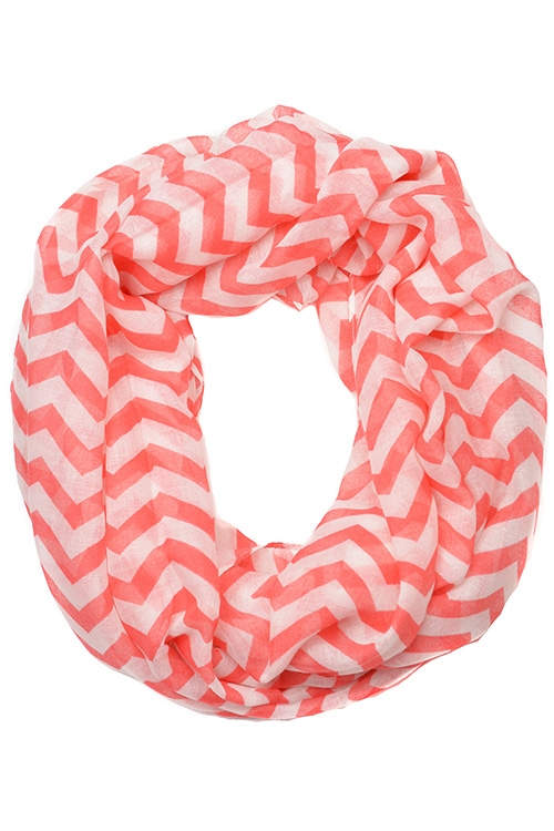 TWO TONE COLOR INFINITY SCARF - orangeshine.com