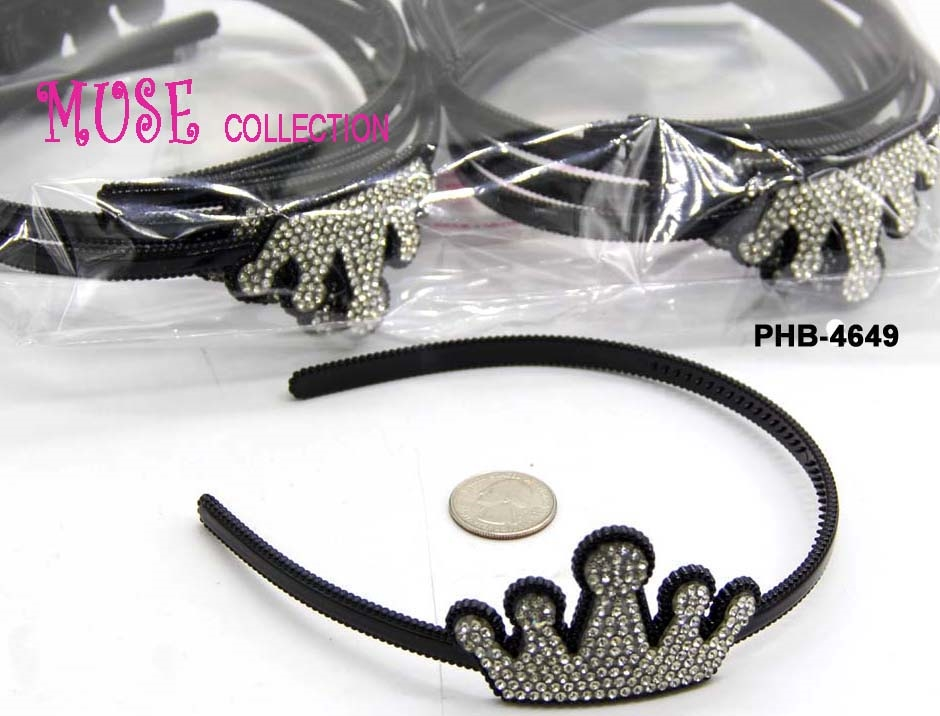 PLASTIC HAIR BAND W/RHINESTONE - orangeshine.com