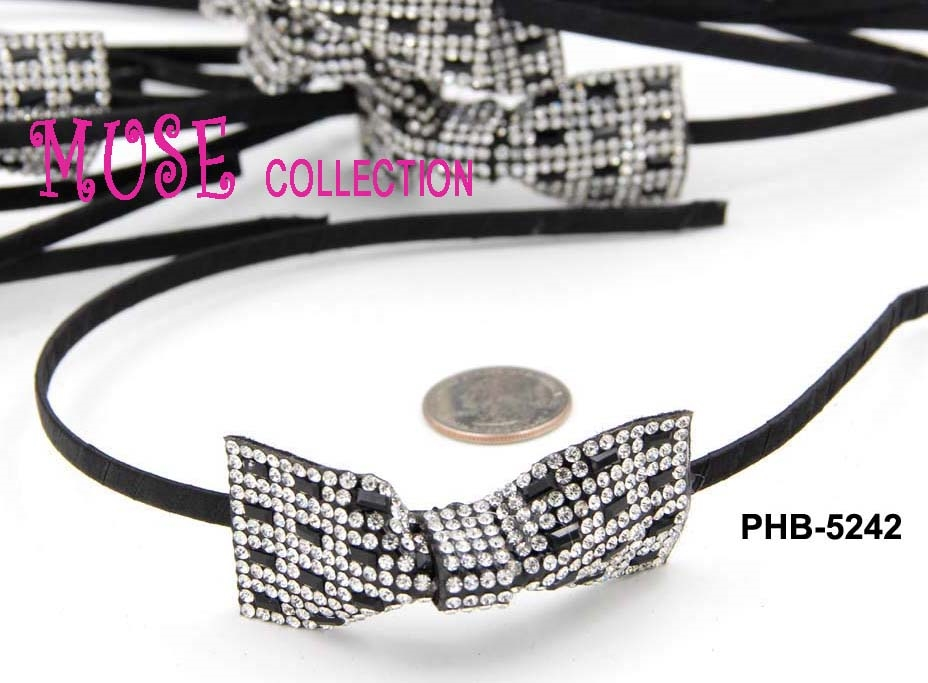 METAL HAIR BAND W/RHINESTONE - orangeshine.com