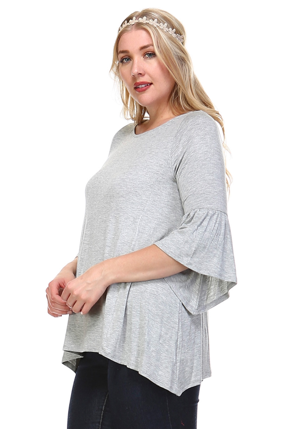 RJ BELL SLEEVE TUNIC TOP - orangeshine.com