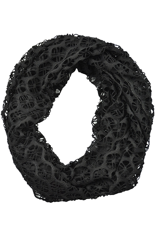WOVEN SOLID NET INFINITY SCARF - orangeshine.com