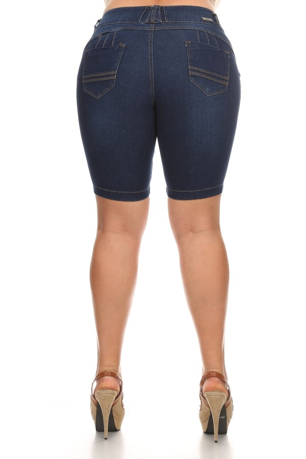 PLUS SIZE BERMUDA WITH POCKET  - orangeshine.com
