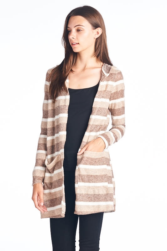 striped sweater cardigan - orangeshine.com