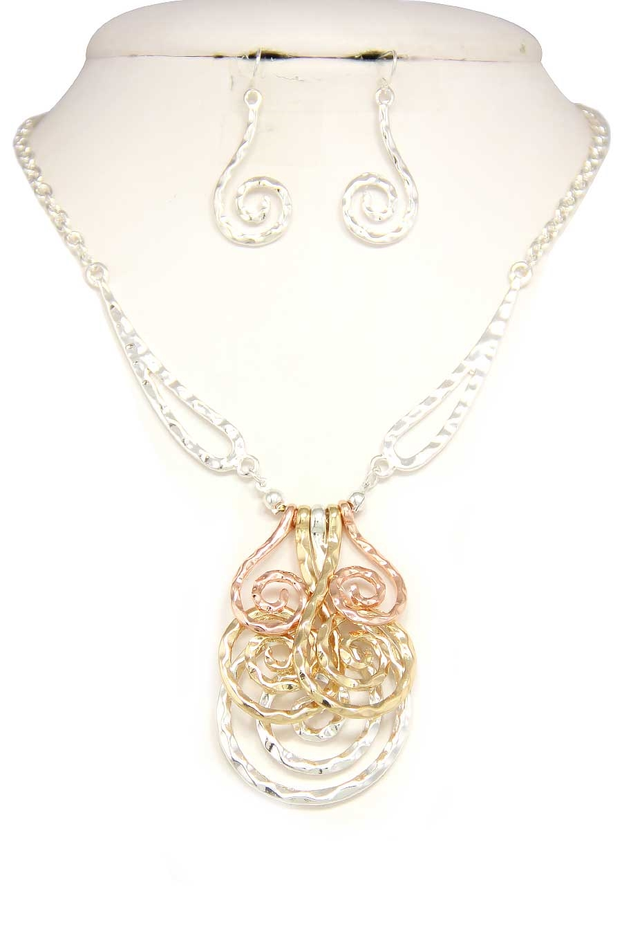 MULTI SPIRAL DROP NECKLACE - orangeshine.com