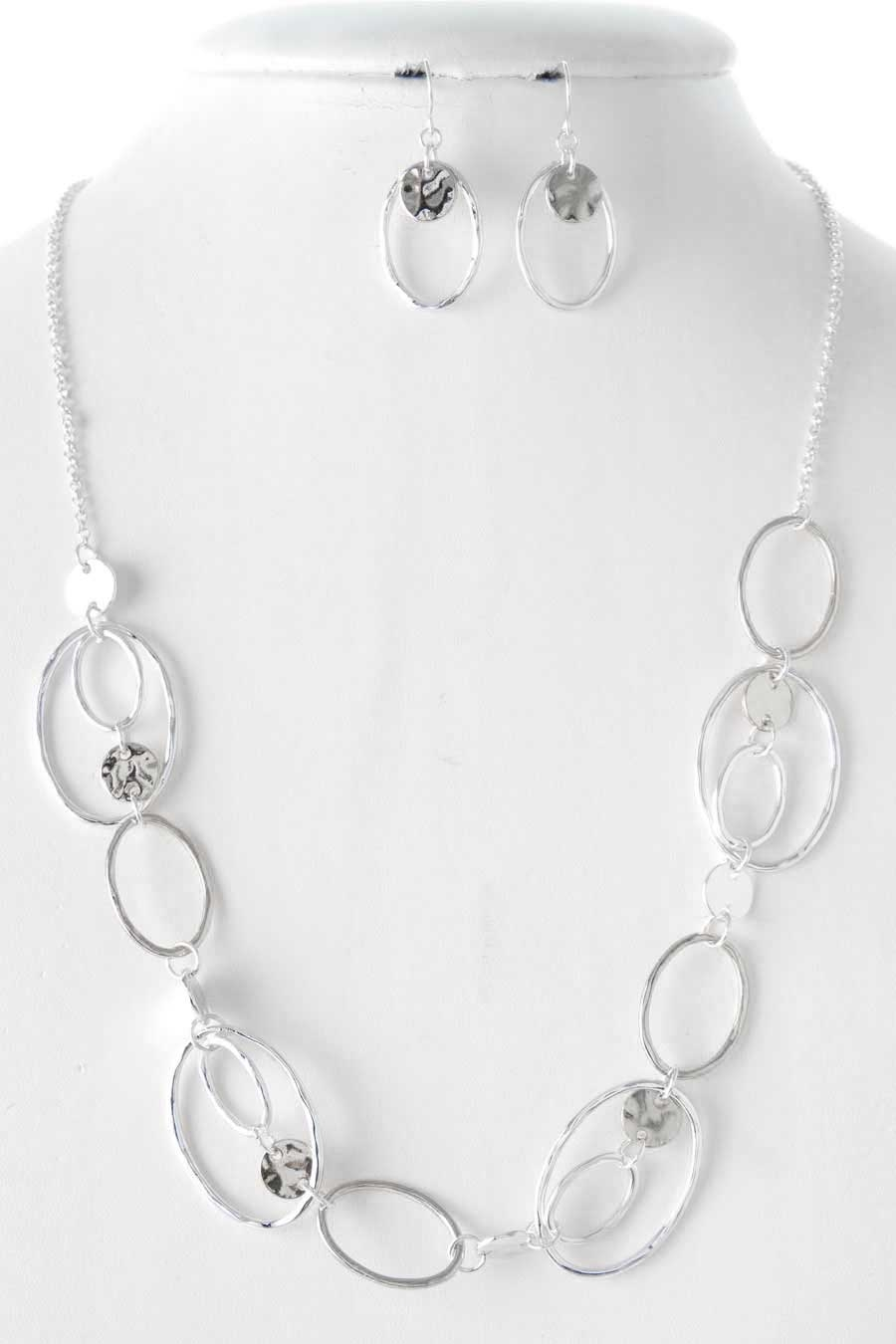 OVAL LINKED NECKLACE SET - orangeshine.com