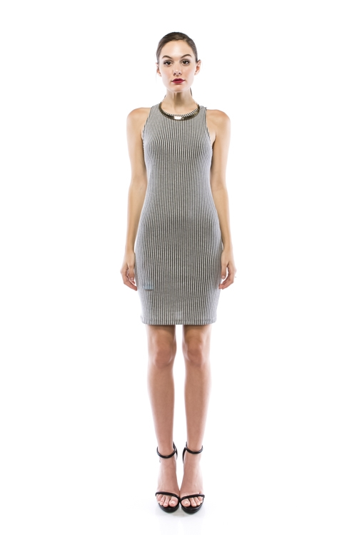 Two Tone Bodycon Dress - orangeshine.com