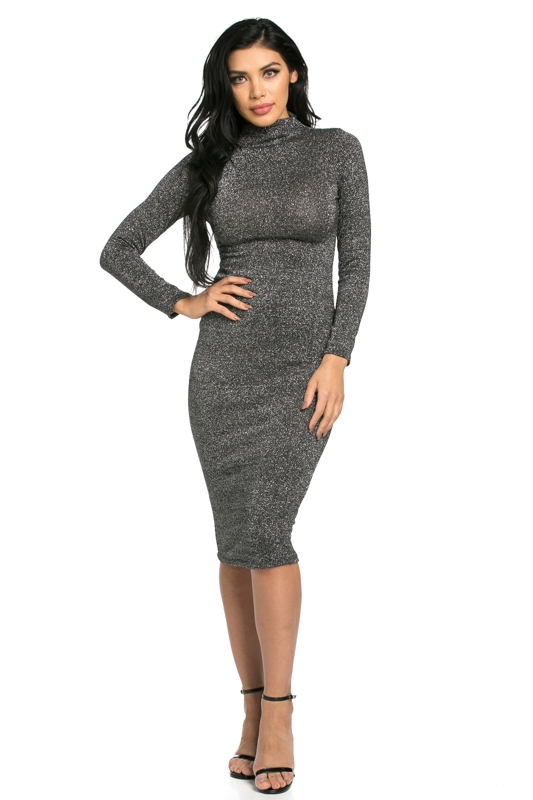 COLLAR AND BODYCON FIT DRESS - orangeshine.com