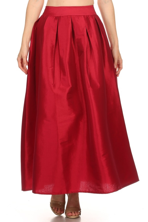 Solid maxi skirt - orangeshine.com