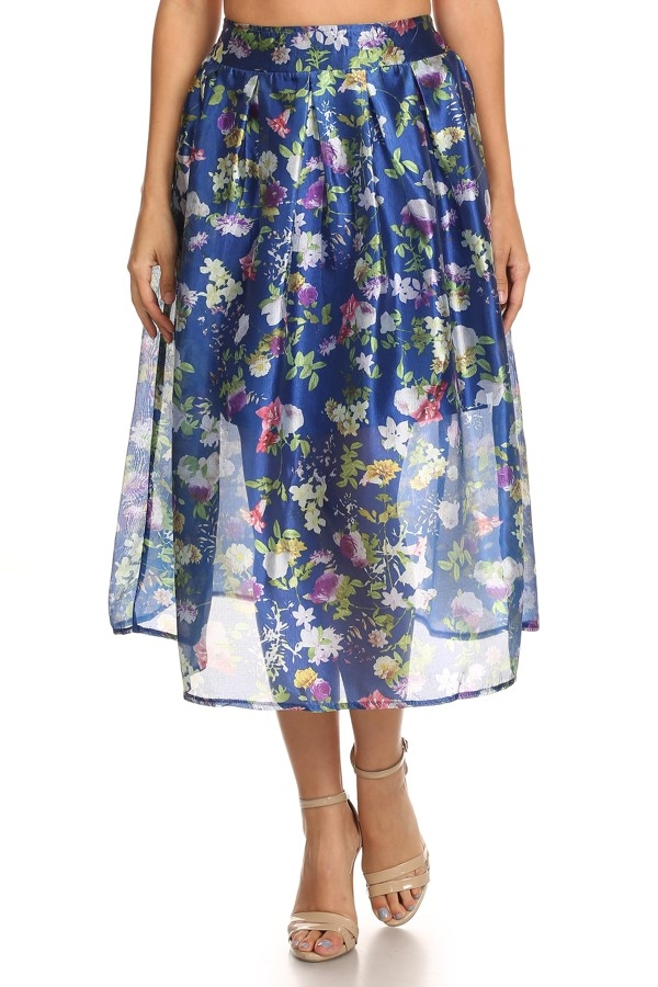 Print sheer skirt - orangeshine.com