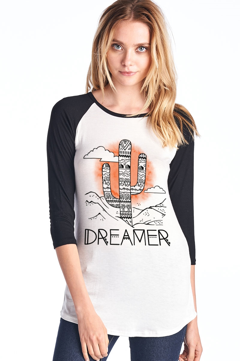 Dreamer 3/4 Sleeve Top - orangeshine.com