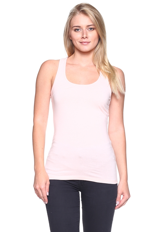 SOLID TANK TOP WITH RACERBACK - orangeshine.com