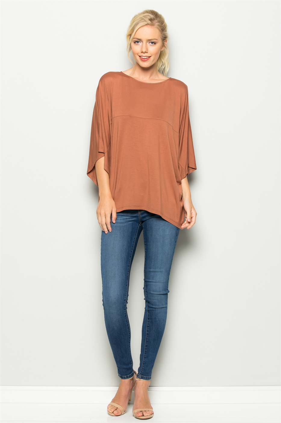 MVS SOLID WIDE SLEEVE TOP - orangeshine.com