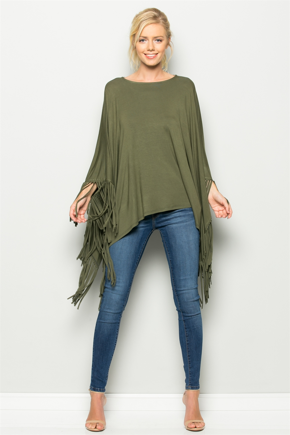 BOAT NECK FRINGE HEM TOP - orangeshine.com