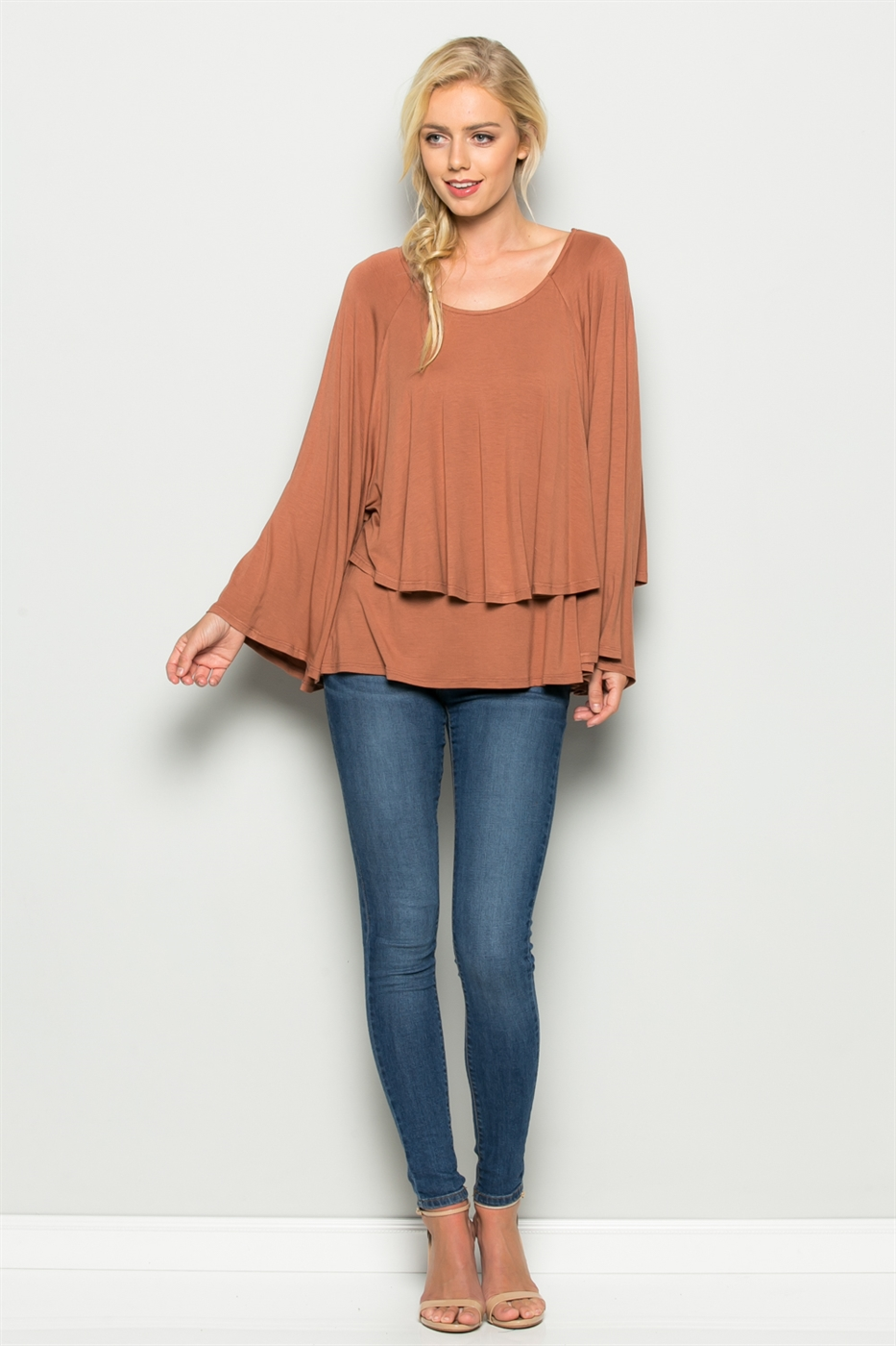 Solid Double Layer Top - orangeshine.com