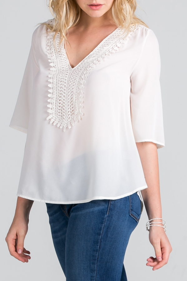 Top with lace detail - orangeshine.com