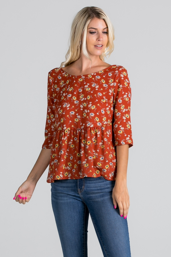 3/4 Sleeve Top - orangeshine.com