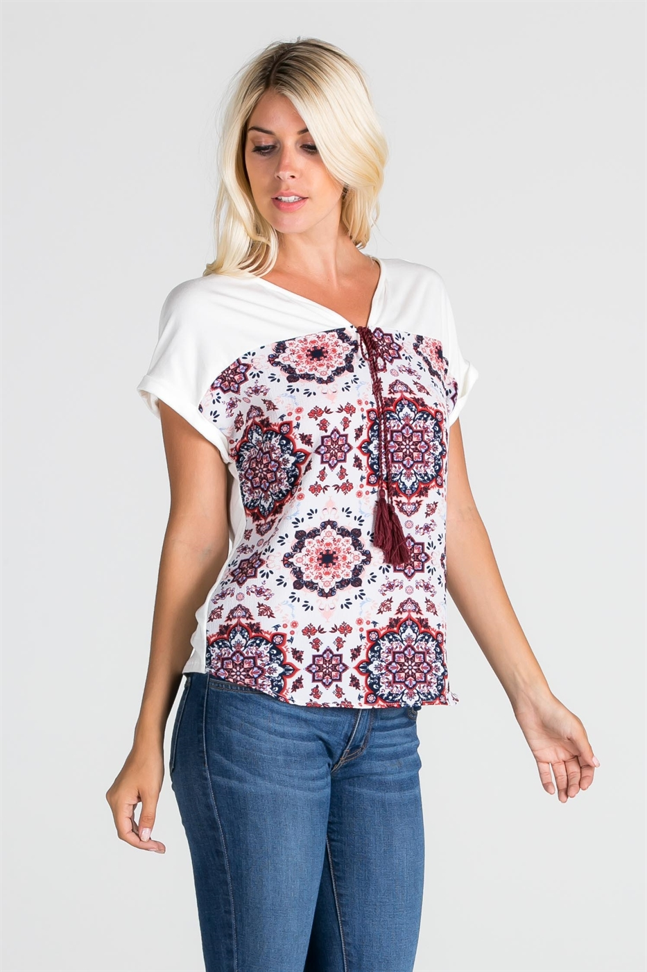 Top with printed front - orangeshine.com