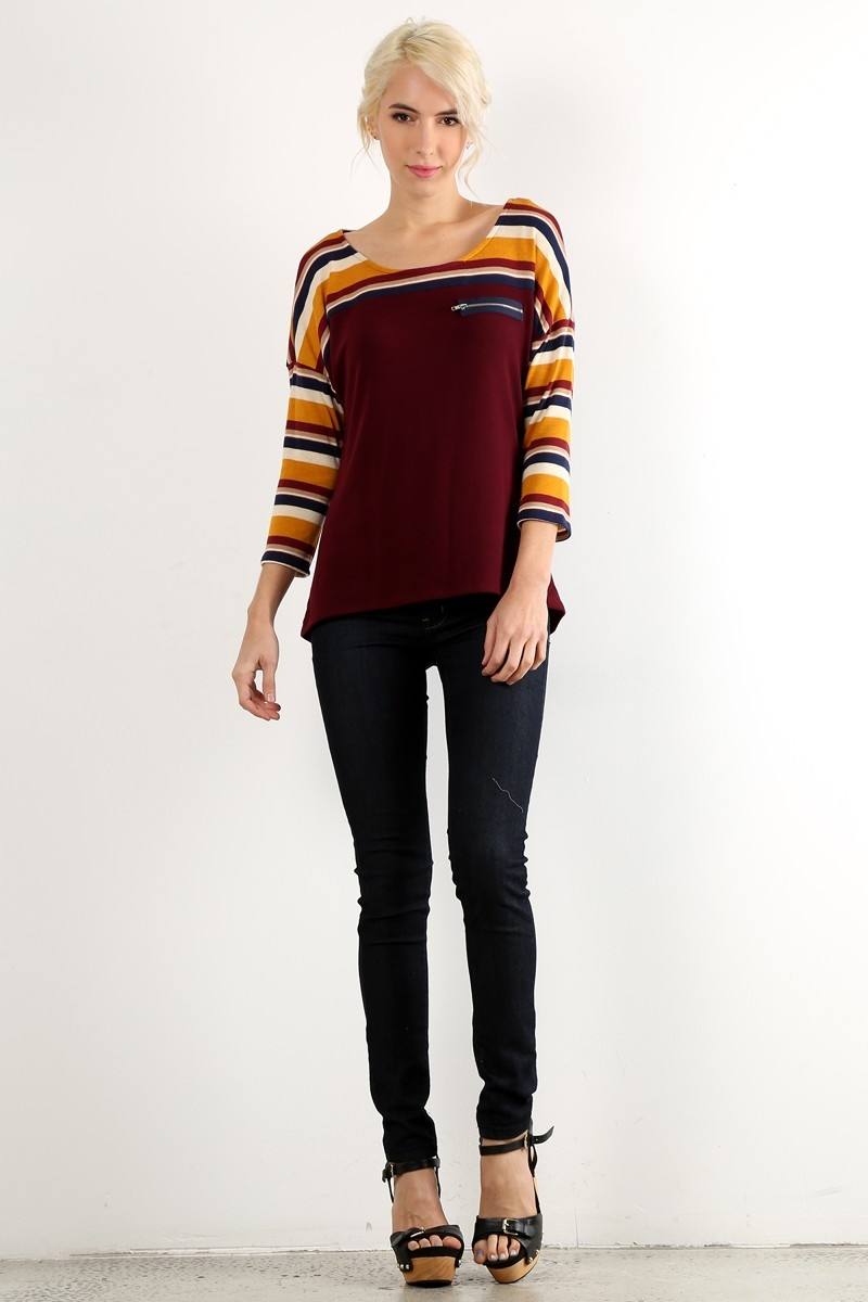 Striped Top - orangeshine.com