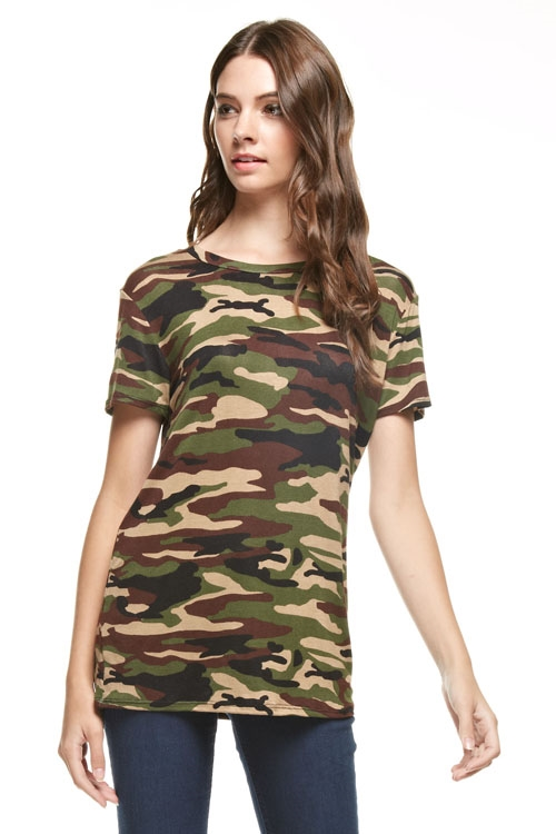 camoflage short sleeve top - orangeshine.com