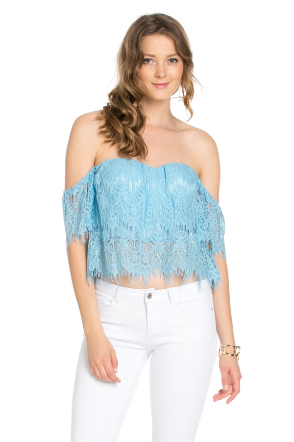 FASHION LACE TOP - orangeshine.com