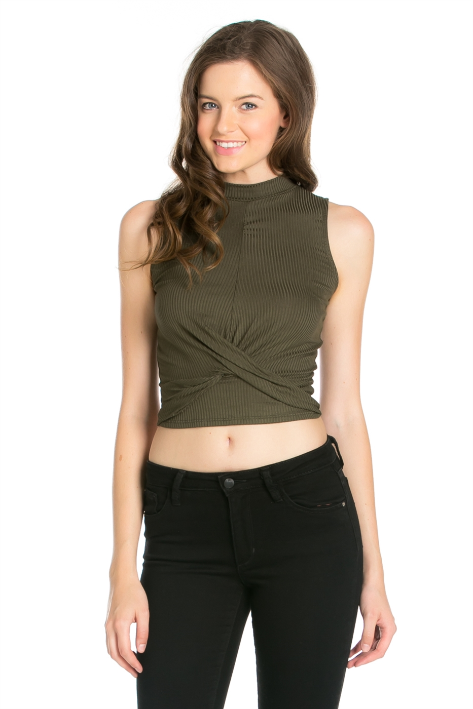 SLEEVELESS RIB TOP - orangeshine.com
