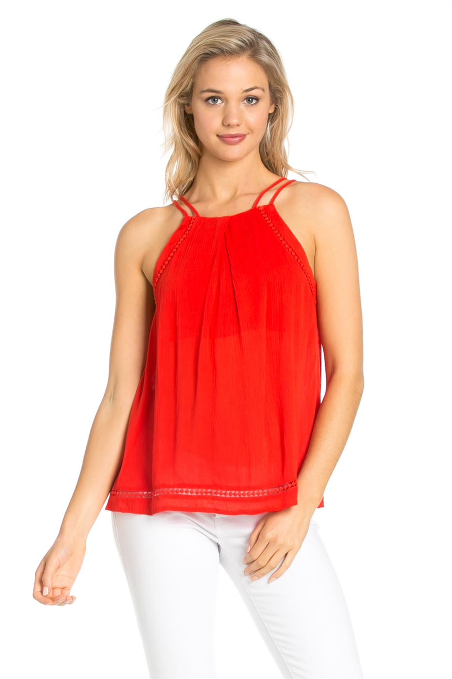 SLEEVELESS DOUBLE STRAP TOP - orangeshine.com