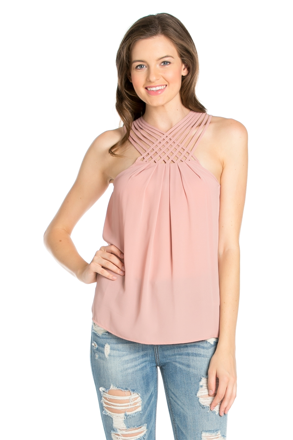 SLEEVELESS STRAP TOP - orangeshine.com