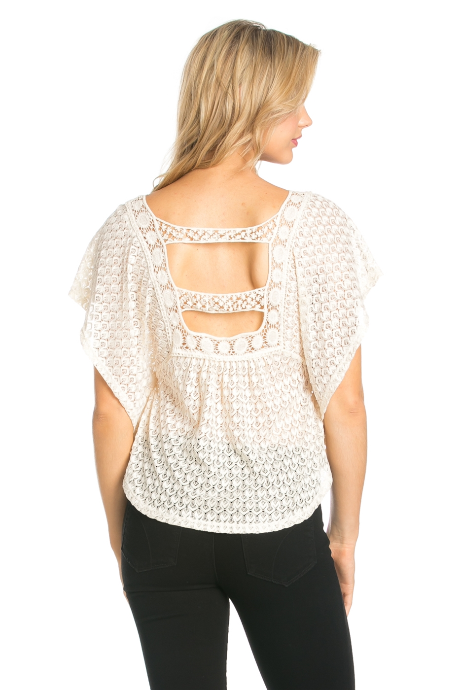 CROCHET LACE BACK TOP - orangeshine.com