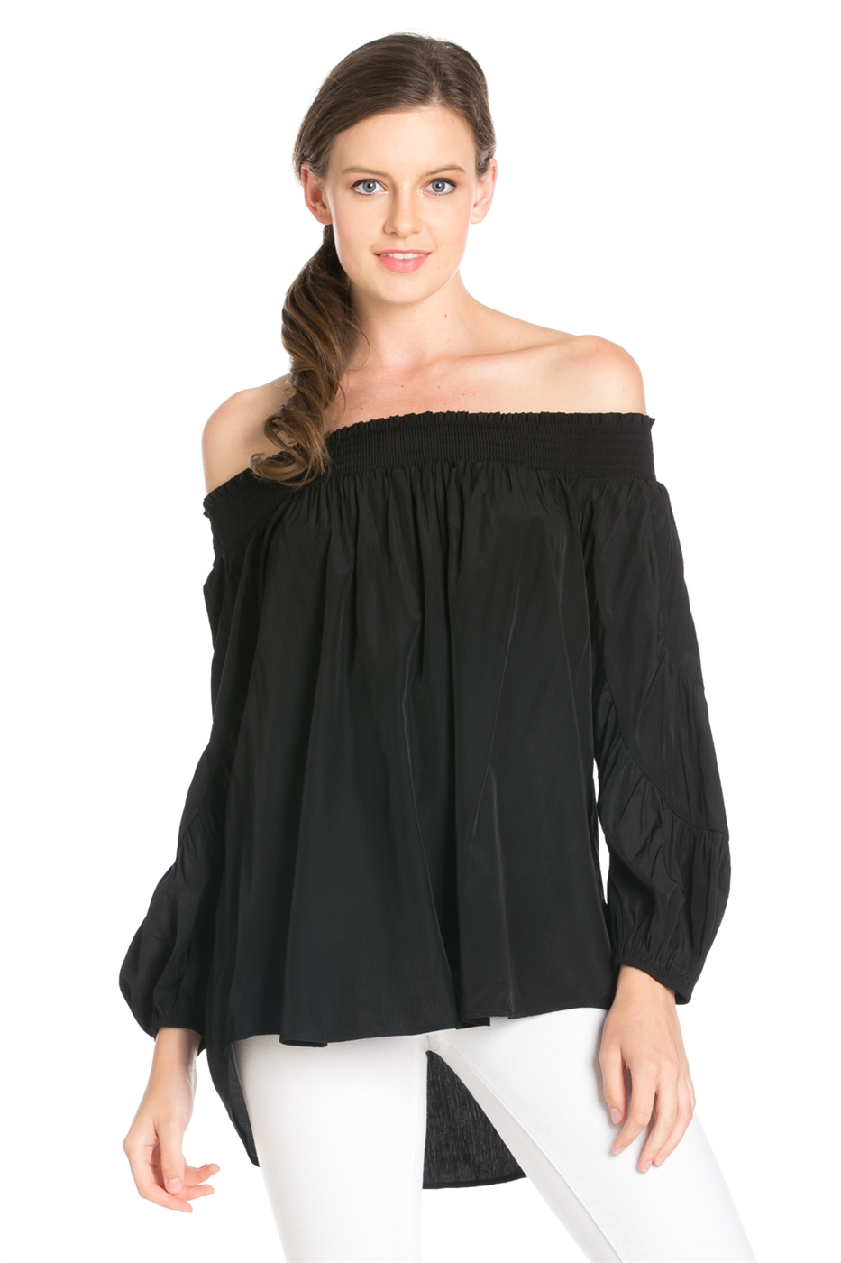 LONG SLEEVE OFF SHOULDER TOP - orangeshine.com