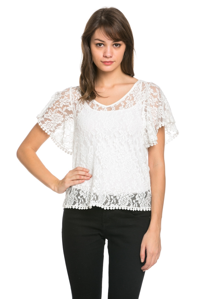 Flower Lace Top - orangeshine.com