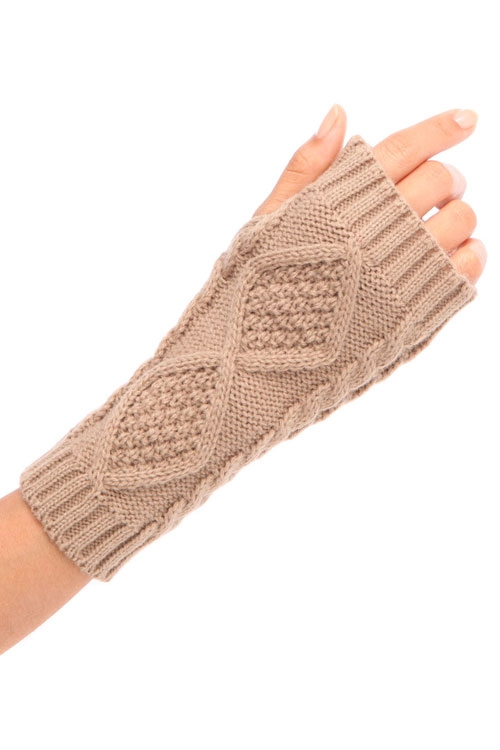 CABLE KNIT BASIC HAND WARMER - orangeshine.com